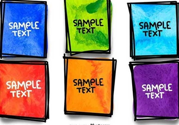 Hand Drawn Colourful Frames - Free vector #336511