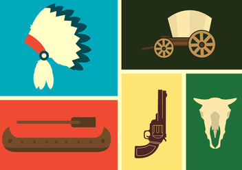 Wild West Vector Icons - Free vector #336601