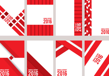 Red Annual Report Design - Free vector #336621