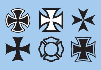 Maltese Cross Vector - Kostenloses vector #336651