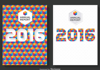 Free Annual Report Design Vector - бесплатный vector #336731