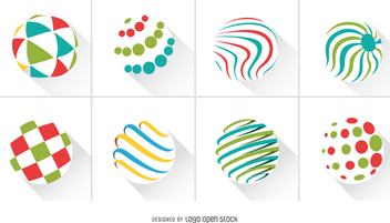 Abstract Circles logo pack - Free vector #336871