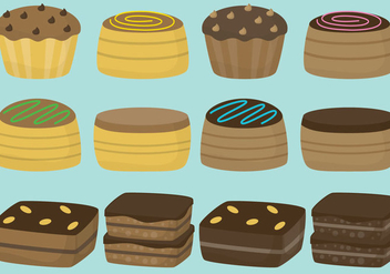 Brownies And Cakes - vector gratuit #336951