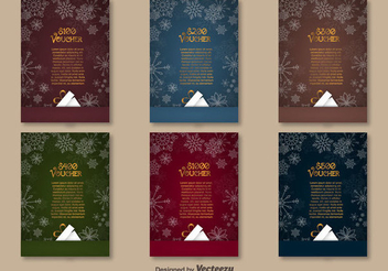 Christmas Gift Voucher Pack - Free vector #336991