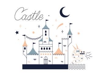 Free Castle Vector - Kostenloses vector #337051