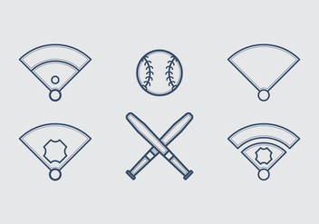 Free Baseball Vector Icon Illustrations #4 - Free vector #337291