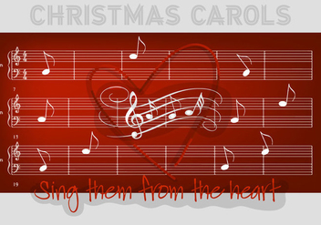 Free Christmas Carols Vector Background - Kostenloses vector #337311