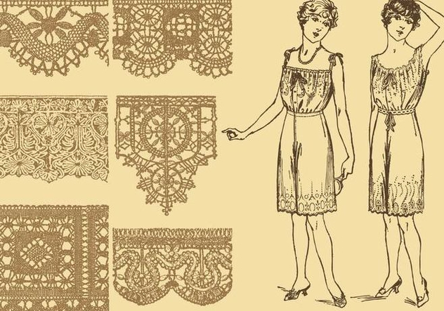 Old Style Laces - Free vector #337331