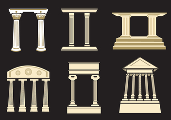 Ancient Roman Pillars - vector gratuit #337611