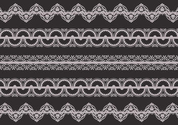 Retro Lace Trim Vector - Free vector #337631