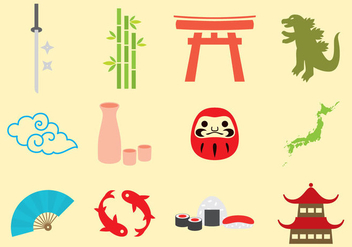 Japanese Icons - Free vector #337661