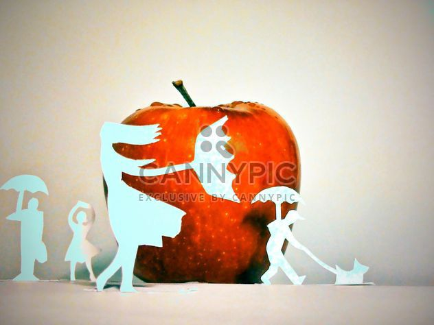 Apple and people made of paper - Free image #337871
