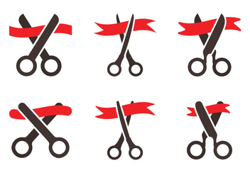 Free Ribbon Cutting Vector Icon - vector gratuit #337951