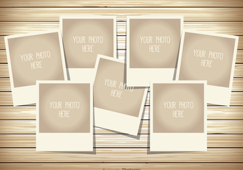 Photo Collage Template - vector gratuit #338091