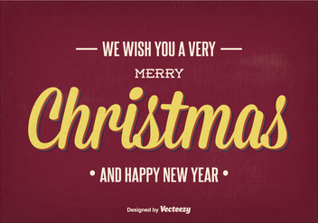 Vintage Christmas Greeting Illustration - Free vector #338151