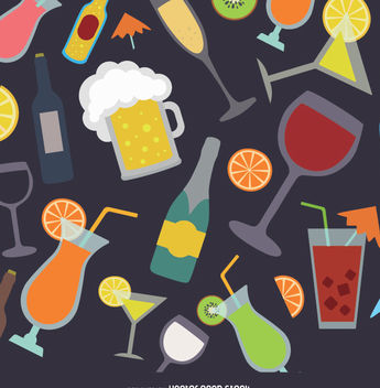 Drinks background - Free vector #338441