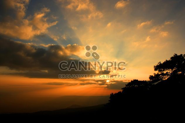 Cloudy sky at sunset - Free image #338491