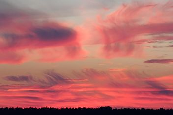Pink sky at sunset - image gratuit #338521