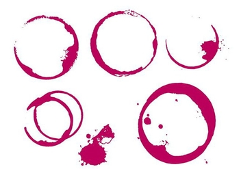Wine Stain - Free vector #338671