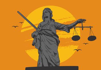 Vector Lady justice - Kostenloses vector #338691