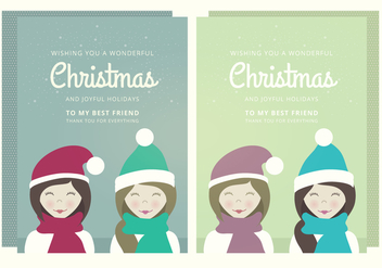 Christmas Vector Card - Free vector #338701