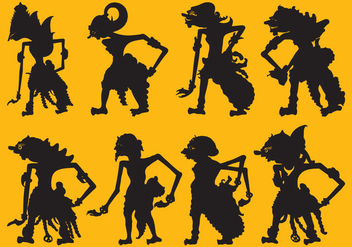 Wayang Silhouettes - Free vector #338771