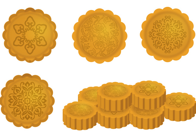 Mooncake Vector Designs - vector gratuit #339301