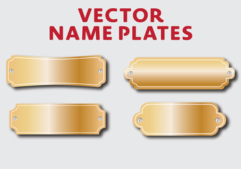 Vector Name Plates - Free vector #339321