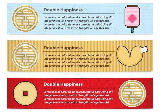 Double Happiness Banners - vector #339331 gratis