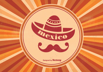 Retro Mexican Style Background - Free vector #339421