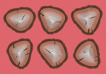 Free Tree Rings Vector Illustration #14 - Free vector #339471