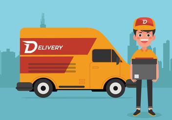 Vector Delivery Man - Kostenloses vector #339491