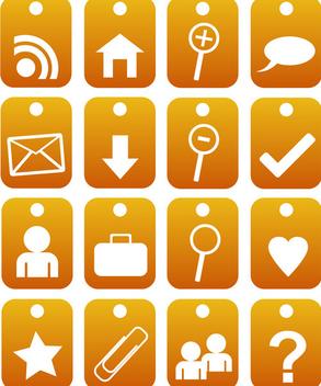 2d orange web 2.0 icons - Free vector #339571