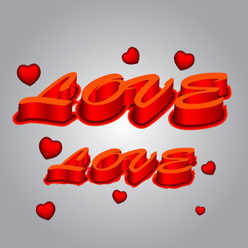3d Love Text - Free vector #339581