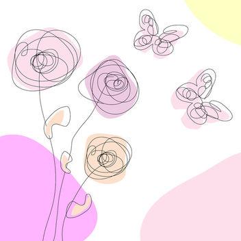 Spring scribble free vector - Free vector #339721