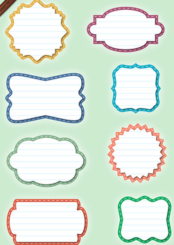 Set of Paper Labels - Shapes - Kostenloses vector #339921