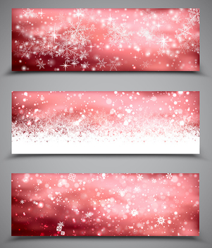 Christmas Banners Set - vector gratuit #339951