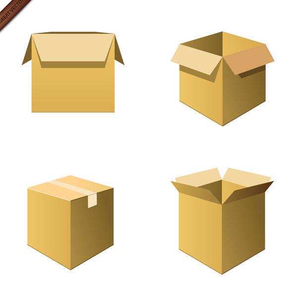 Vector Cardboard Boxes - vector gratuit #339991