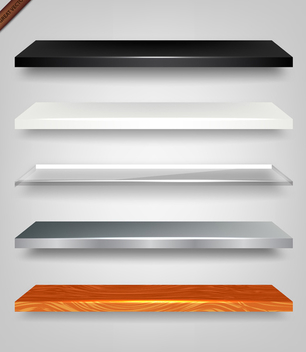 Empty Shelves - Free vector #340071