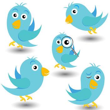 Twitter Birds - Free vector #340091