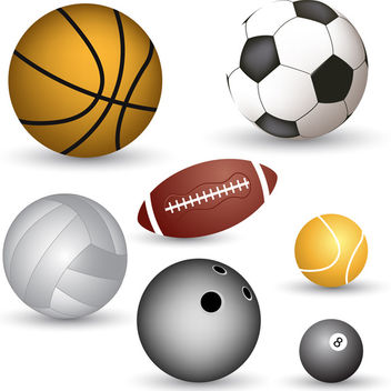 Vector Ball Set - vector gratuit #340131