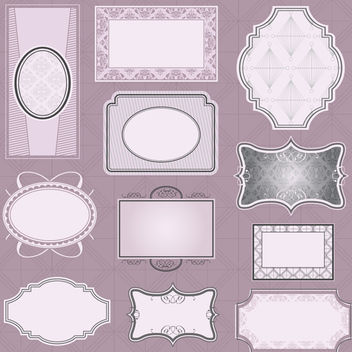 Ornate Frames - Free vector #340151