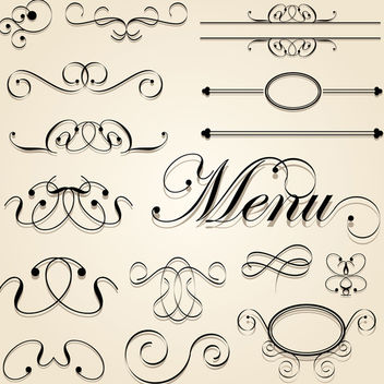 Decorative Calligraphic Vector - Free vector #340161