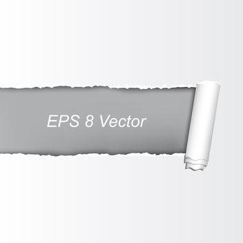 Vector Torn Paper - vector gratuit #340191