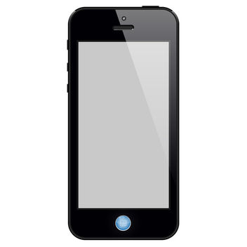 Black Touchscreen Phone - Kostenloses vector #340401