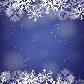 Snowflake Background - vector #340421 gratis