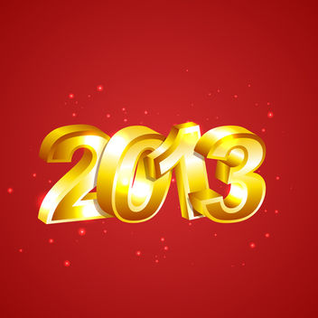 Vector New Year 2013 - Free vector #340471