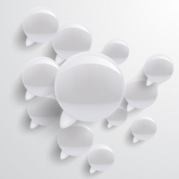 Speech Bubbles Background - Free vector #340571