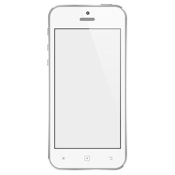 White Mobile Phone - vector gratuit #340621