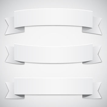 White Ribbons - Free vector #340711